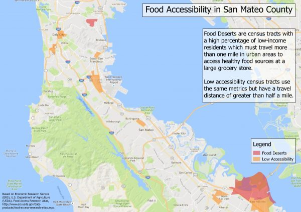 Food Accessibility in San Mateo County